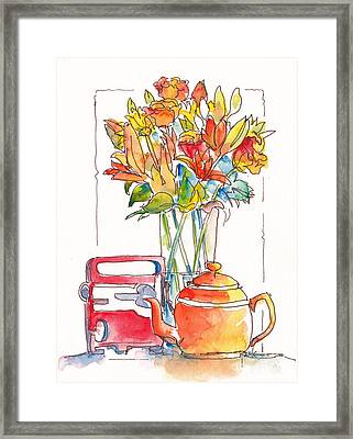 Tea And Tunes Framed Print by Pat Katz