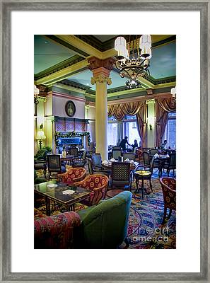 Tea At The Royal Empress Framed Print by David Smith