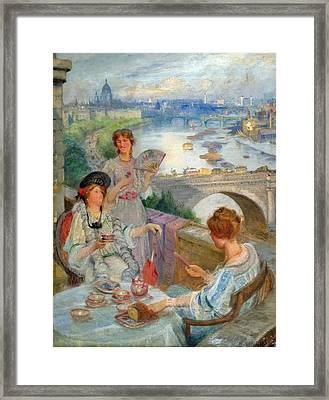 Tea At The Savoy Hilton Framed Print