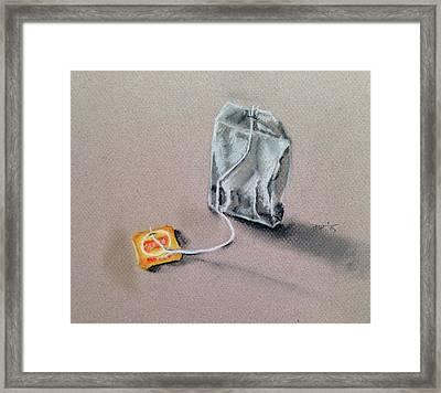 Tea Bag Framed Print by Paulina Paterak-Salmon