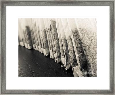 Tea Bags Closeup Framed Print by Edward Fielding