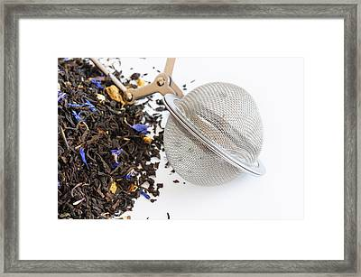 Tea Ball Infuser And Scented Tea Framed Print by Dutourdumonde Photography
