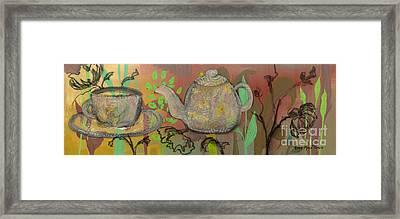 Tea Blossoms Framed Print by Robin Maria Pedrero