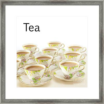Tea Concept Framed Print by Colin and Linda McKie