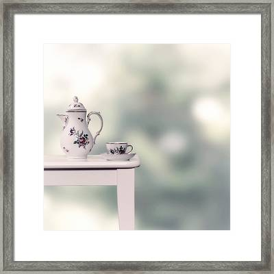 Tea Cup And Pot Framed Print by Joana Kruse