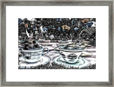 Tea Cup Ride Fantasyland Disneyland Sc Framed Print by Thomas Woolworth