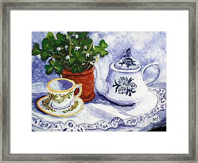 Tea For Nancy Framed Print by Barbara McDevitt