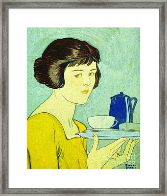 Tea For One 1884 Framed Print