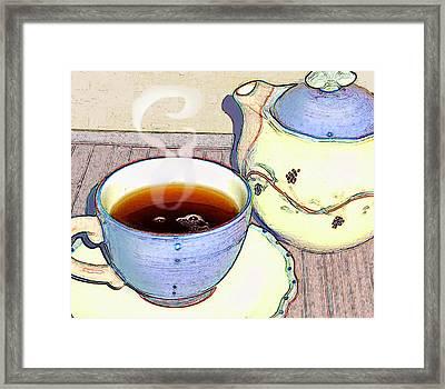 Tea For One Framed Print by Ginny Schmidt
