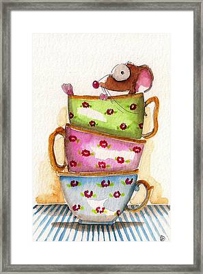 Tea For One Framed Print by Lucia Stewart