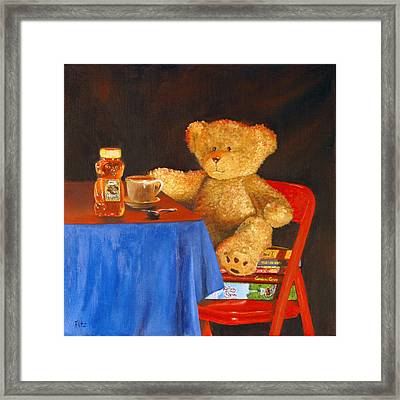 Framed Print featuring the painting Tea For Teddy by Rick Fitzsimons
