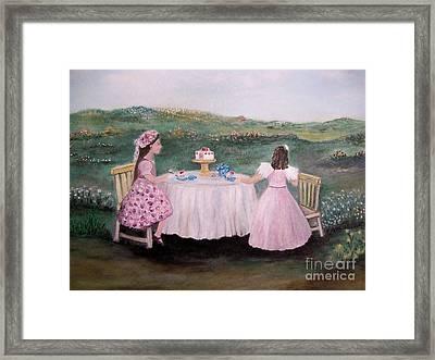 Tea For Two Framed Print by Rhonda Lee