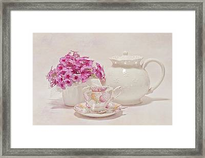 Tea For You Framed Print by Sandra Foster