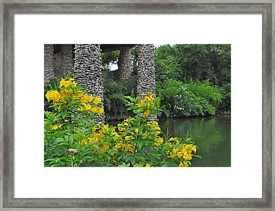Tea Garden Framed Print by Leanne Sullivan