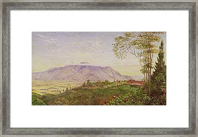 Tea Gathering In Java Framed Print by Marianne North