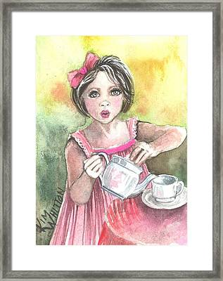 Tea Granny Framed Print by Kim Sutherland Whitton