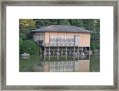 Tea House Reflections Framed Print by Bill Mock