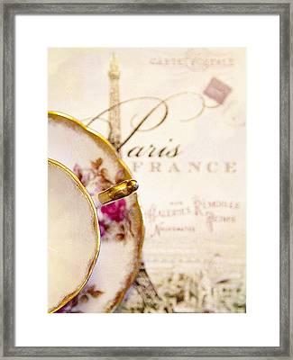 Tea In Paris Framed Print by Rebecca Cozart