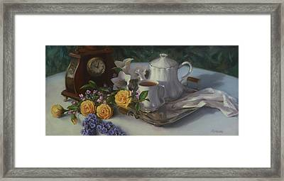 Tea In The Garden Framed Print
