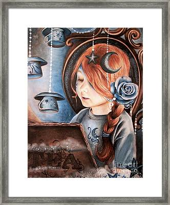 Tea In The Moonlight Framed Print by Sheena Pike