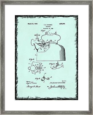 Tea Kettle Patent 1923 Framed Print