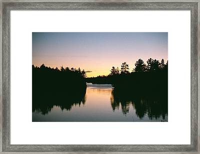 Framed Print featuring the photograph Tea Lake Sunset by David Porteus