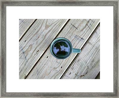 Tea Leaves Framed Print by Lon Casler Bixby