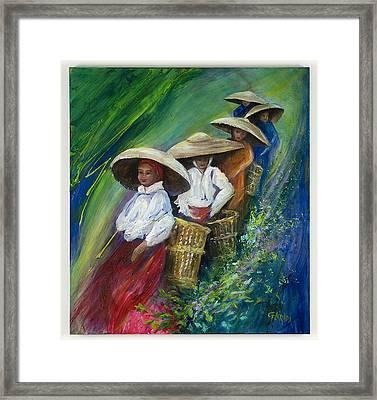 Tea Leaves On Parade Framed Print by Csilla Florida