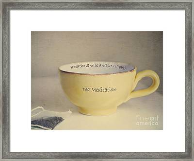 Tea Meditation Framed Print by Irina Wardas