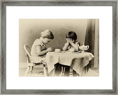 Tea Party Blessing Framed Print by Tony Grider