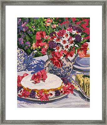 Tea Party Framed Print by David Lloyd Glover