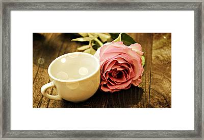Tea Petals Framed Print by Sheena Pike