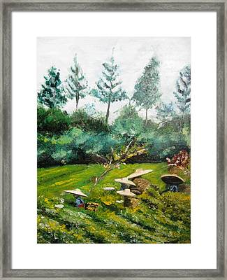 Tea Plantation In Indonesia Framed Print