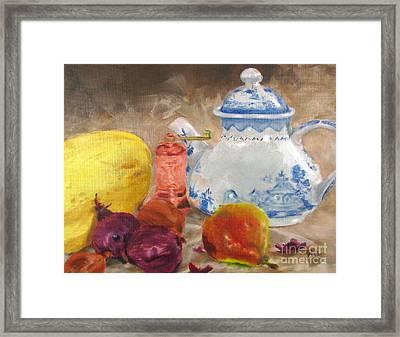 Tea Pot And Spice Grinder Framed Print