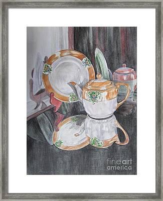 Tea Pot Framed Print by Laurianna Taylor