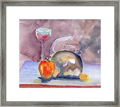 Tea Pot Framed Print by Marsden Burnell