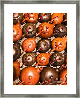 Tea Pots Framed Print