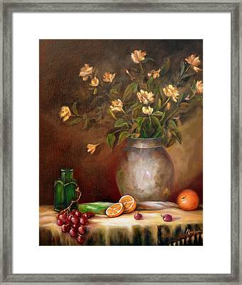 Tea Roses And More Framed Print