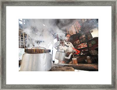 Tea Seller Framed Print by Money Sharma