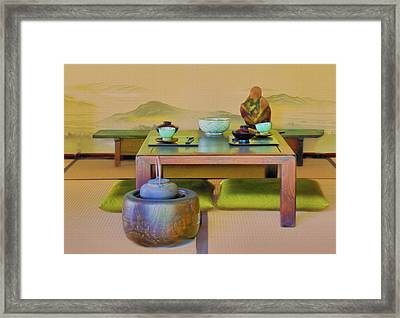 Tea Setting Framed Print by Joseph Hollingsworth