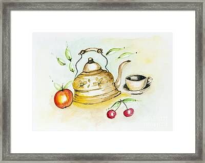 Tea Summer Ceremony Framed Print by Irina Gromovaja