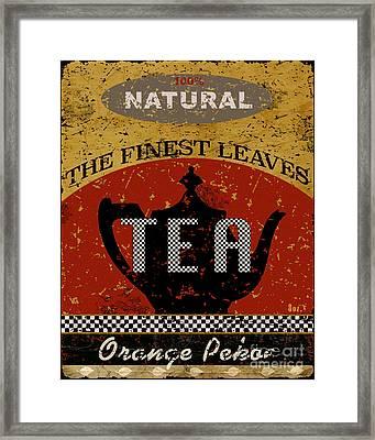 Tea - The Finest Leaves Framed Print