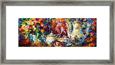 Tea Time 2 Framed Print by Leonid Afremov