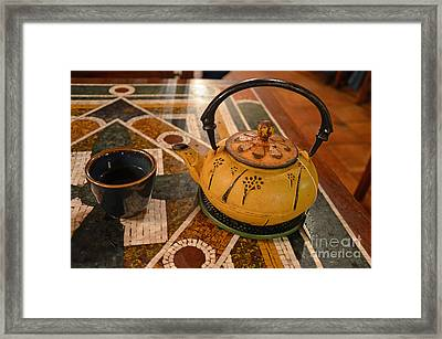 Framed Print featuring the photograph Tea Time In Asia by Robert Meanor