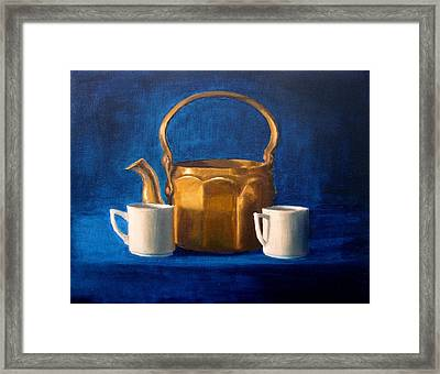 Framed Print featuring the painting Tea Time by Janet King