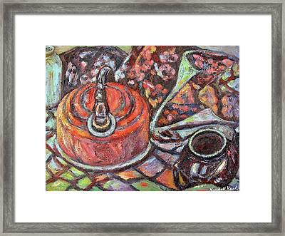Tea Time Framed Print by Kendall Kessler