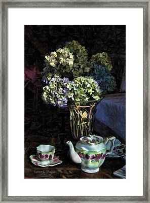 Framed Print featuring the photograph Tea Time by Kenny Francis