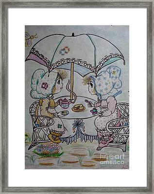 Tea Time Framed Print by Lori  Lovetere