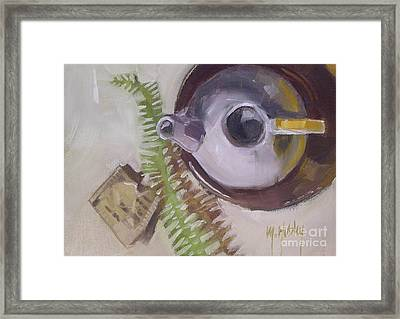 Tea Time Teapot For Afternoon Tea Parties Framed Print