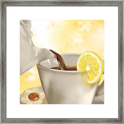 Tea Time Framed Print by Veronica Minozzi
